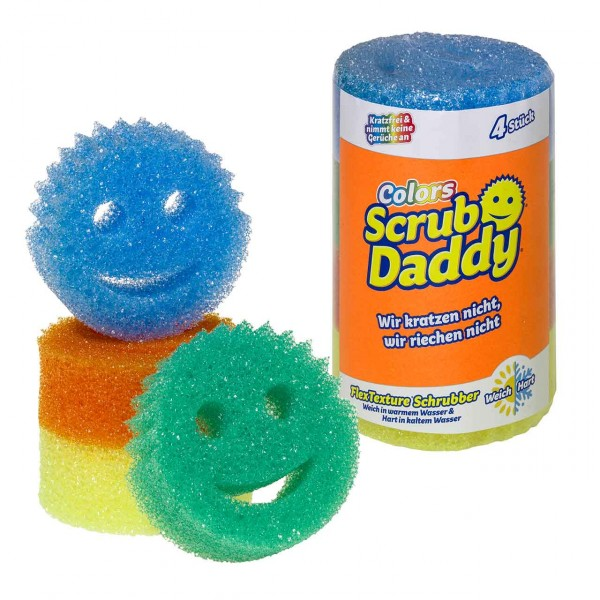 Scrub Daddy Colors 4er Rolle