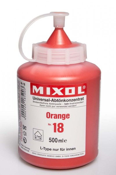 Mixol Orange Nr.18 Abtönkonzentrat 500ml